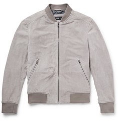 Hugo Boss Perforated Suede Bomber Jacket