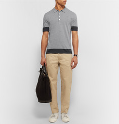 Burberry Brit Slim-Fit Knitted Cotton Polo Shirt