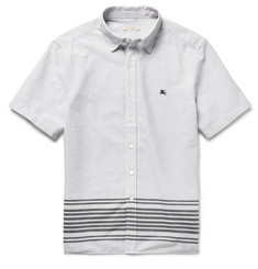 Burberry Brit Slim-Fit Striped Cotton Shirt