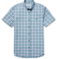 Burberry Brit Slim-Fit Checked Cotton-Seersucker Shirt