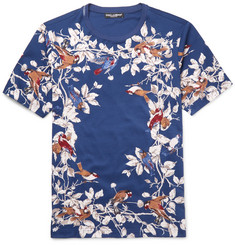 Dolce & Gabbana - Slim-Fit Printed Cotton T-Shirt