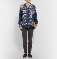 Dolce & Gabbana Camp-Collar Printed Silk Shirt