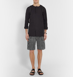 Dolce & Gabbana Wide-Leg Striped Cotton-Poplin Shorts