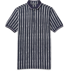 Dolce & Gabbana Slim-Fit Striped Cotton-Piqué Polo Shirt