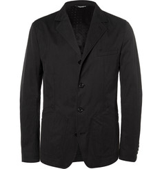 Dolce & Gabbana - Black Slim-Fit Cotton-Blend Gabardine Blazer
