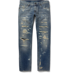 Dolce & Gabbana - Slim-Fit Distressed Denim Jeans