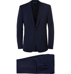 Dolce & Gabbana Navy Martini Slim-Fit Virgin Wool-Blend Suit