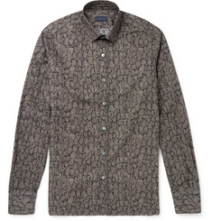 Lanvin - Slim-Fit Snake-Print Cotton-Poplin Shirt