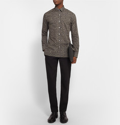 Lanvin Slim-Fit Snake-Print Cotton-Poplin Shirt