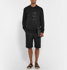 Lanvin Embellished Cotton-Jersey Sweatshirt