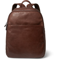 Brunello Cucinelli Textured-Leather Backpack