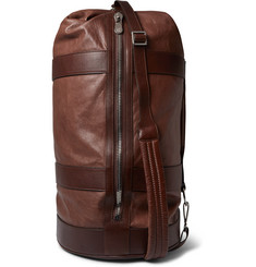 Brunello Cucinelli Grained-Leather Duffle Bag