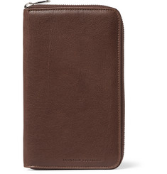 Brunello Cucinelli Textured-Leather Travel Wallet