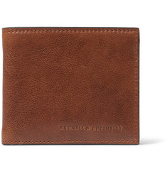 Brunello Cucinelli Textured-Leather Billfold Wallet