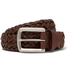 Brunello Cucinelli - 3cm Brown Braided Leather Belt