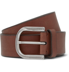 Brunello Cucinelli 3.5cm Brown Leather Belt