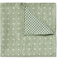 Brunello Cucinelli - Double-Faced Silk and Cotton-Blend Pocket Square