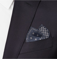 Brunello Cucinelli Double-Faced Silk and Cotton-Blend Pocket Square