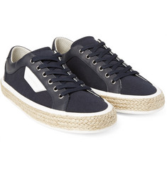 Dolce & Gabbana - Rope-Trimmed Canvas and Leather Sneakers