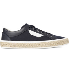 Dolce & Gabbana Rope-Trimmed Canvas and Leather Sneakers