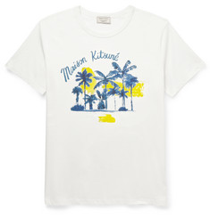 Maison Kitsuné - Slim-Fit Printed Cotton-Jersey T-Shirt