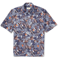 Maison Kitsuné - Slim-Fit Printed Cotton-Poplin Safari Shirt