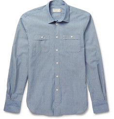 Maison Kitsuné - Cotton-Chambray Shirt