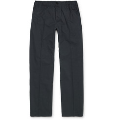 Maison Kitsuné Pleated Cotton Trousers