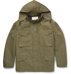 Maison Kitsuné M65 Cotton and Linen-Blend Field Jacket