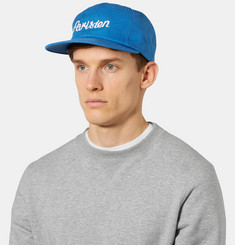 Maison Kitsuné - Embroidered Cotton-Blend Twill Baseball Cap