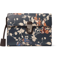 Dolce & Gabbana Printed Grained-Leather Pouch
