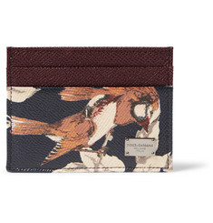 Dolce & Gabbana Printed Grained-Leather Cardholder