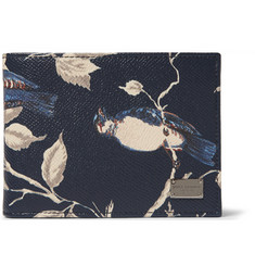 Dolce & Gabbana Printed Grained-Leather Billfold Wallet