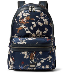 Dolce & Gabbana Printed Leather-Trimmed Satin Backpack