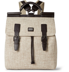 Dolce & Gabbana - Leather-Trimmed Canvas Backpack