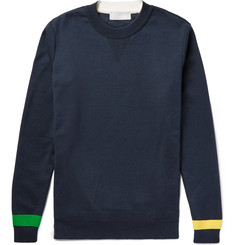 Tomorrowland Tricot-Trimmed Cotton Sweater