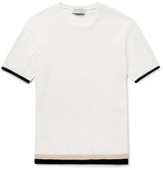 Tomorrowland - Contrast-Trim Knitted Cotton T-Shirt