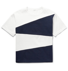 Tomorrowland Panelled Cotton-Jersey T-Shirt
