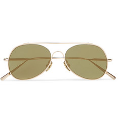 Acne Studios Small Spitfire Aviator-Style Metal Sunglasses