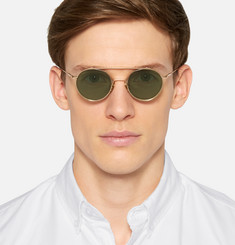 Acne Studios Aviator-Style Metal Sunglasses