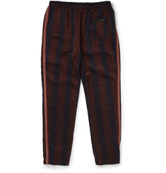 Bottega Veneta Tapered Striped Satin Trousers