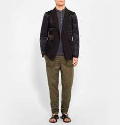 Bottega Veneta Slim-Fit Distressed Cotton Trousers