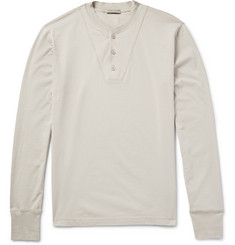 Bottega Veneta - Cotton-Jersey Henley T-Shirt