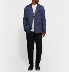Bottega Veneta - Blue Slim-Fit Double-Breasted Cotton Blazer