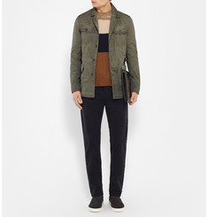 Bottega Veneta Slim-Fit Garment-Dyed Cotton Field Jacket