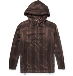 Bottega Veneta - Striped Satin Hooded Jacket