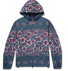 Valentino - Slim-Fit Hibiscus-Print Shell Hooded Jacket