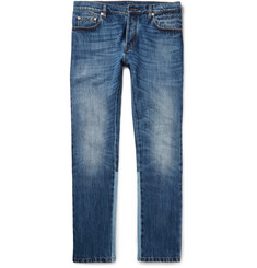 Valentino Slim-Fit Panelled Stretch-Denim Jeans