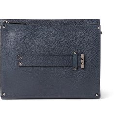 Valentino Rockstud Textured-Leather Document Holder