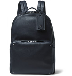 Valentino - Studded Grained-Leather Backpack